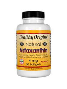 Healthy Origins, Astaxanthin 4 mg, 60 Softgels